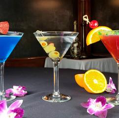 Blue Cosmopolitan, Straight up Martini, Watermelon Martini