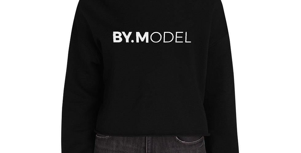 Black crop hoodie BY.MODEL