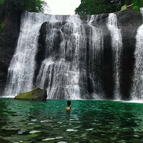 curug leuwi letak waterfall