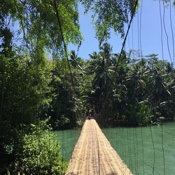 bamboo bridge batukaras swjava