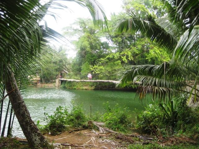 Batukaras bamboo bridge