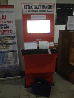 Yogyakarta train ticket machine