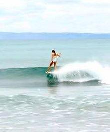 Batukaras Point Break longboard surfing South West Java