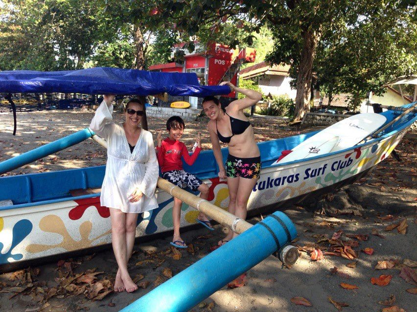 Batukaras Surf Club boat