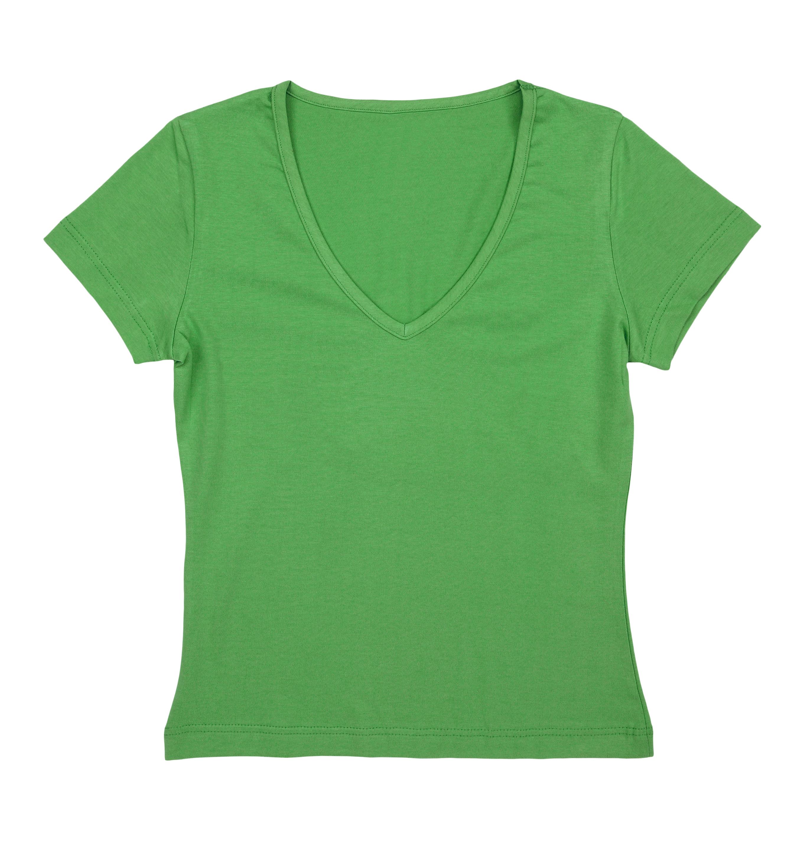 Camisa Decote V Feminina