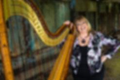 Eira Lynn Jones with her Salvi Arianna Harp