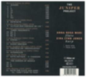 Juniper Project Fragments CD Back Cover.
