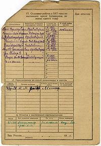 Учетная карточка Павла Быкова
