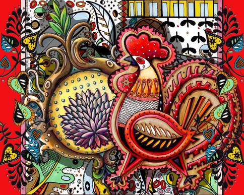 Midcentury Modern Rooster