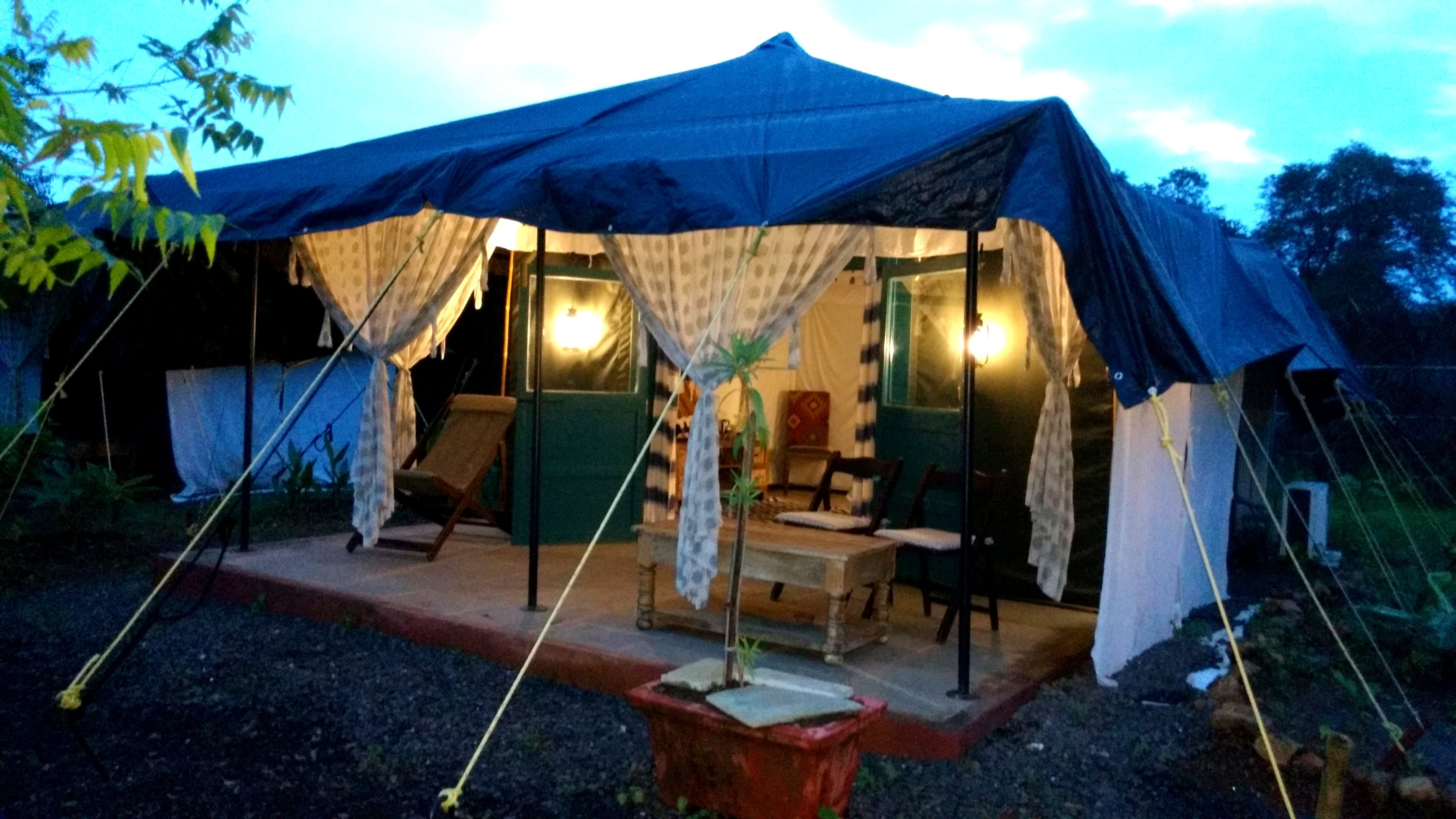 Every tent has its own private veranda a