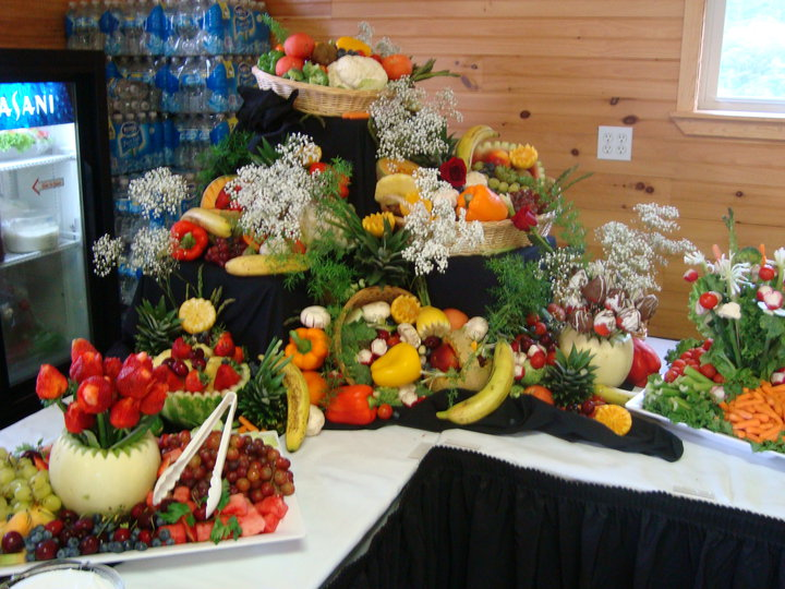 Waterfall Fruit And Veggie Displays: Chartwells Catering Cadillac Michigan