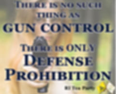 There is no such thing as gun control there is only defense prohibition ir tea party