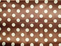 Атлас-горох 25 мм Белый на коричневом