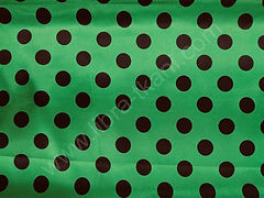 Атлас-горох 25 мм Черный на зеленом