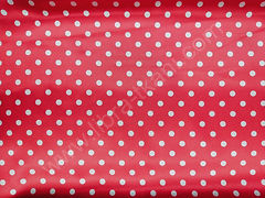 Атлас-горох 9 мм Белый на красном