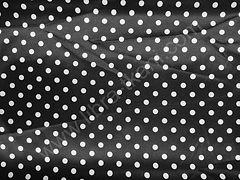 Атлас-горох 9 мм Белый на черном