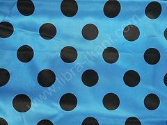 Атлас-горох 45 мм Черный на голубом