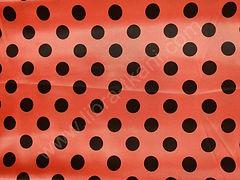 Атлас-горох 25 мм Черный на оранжевом