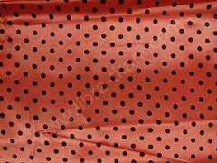 Атлас-горох 9 мм Черный на оранжевом