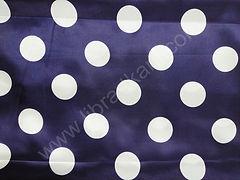 Атлас-горох 45 мм Белый на темно-синем