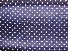 Атлас-горох 9 мм Белый на темно-синем