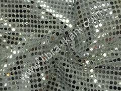 Пайетки Копейка Серебряные на серебряном