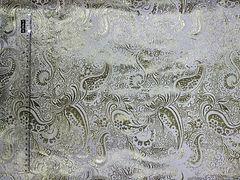 Парча Огурцы Золото на белом