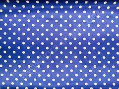 Атлас-горох 9 мм Белый на синем