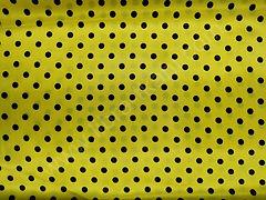 Атлас-горох 9 мм Черный на желтом