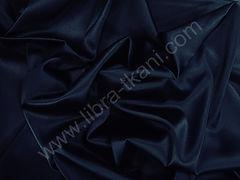 Атлас матовый плотный Темно-синий