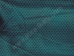 Атлас-горох 3 мм Черный на морской волне