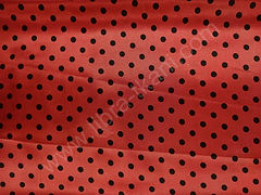 Атлас-горох 9 мм Черный на красном