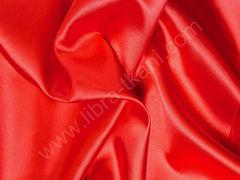 Атлас-стрейч Красный