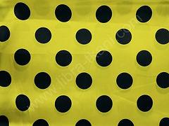 Атлас-горох 45 мм Черный на желтом