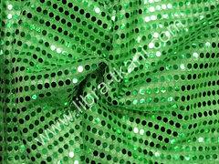 Пайетки Копейка Зеленые на зеленом