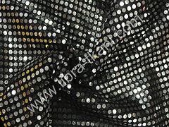 Пайетки Копейка Серебряные на черном