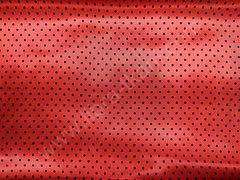 Атлас-горох 3 мм Черный на красном