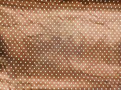 Атлас-горох 3 мм Белый на коричневом