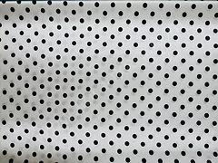 Атлас-горох 9 мм Черный на белом