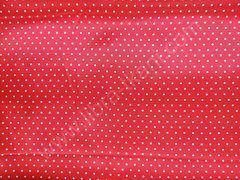 Атлас-горох 3 мм Белый на красном