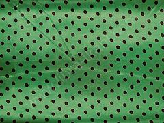 Атлас-горох 9 мм Черный на зеленом
