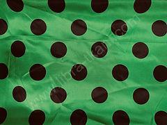 Атлас-горох 45 мм Черный на зеленом