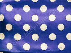 Атлас-горох 45 мм Белый на синем