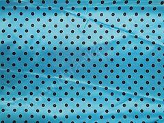 Атлас-горох 9 мм Черный на голубом