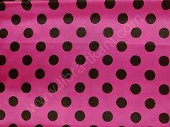 Атлас-горох 25 мм Черный на розовом