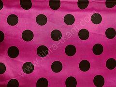 Атлас-горох 45 мм Черный на розовом