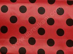 Атлас-горох 45 мм Черный на красном