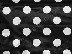 Атлас-горох 45 мм Белый на черном