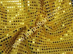 Пайетки Копейка Желтые на желтом