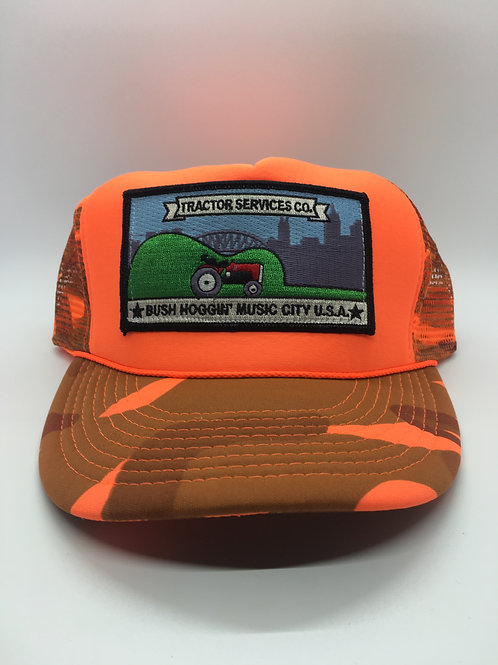 Tractor Services Trucker Hat, Blaze Orange